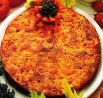 Tortilla de tomate y queso