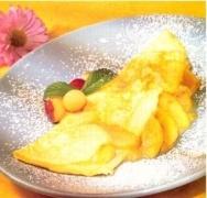 Tortilla dulce con frutas