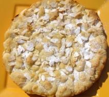 Tortilla dulce de almendra y limón