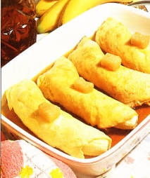 Tortillas de plátanos flambeadas