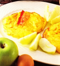 Tortitas de bacon y manzana