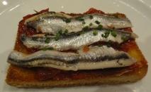 Receta de Tosta con sardinas