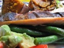 Trucha al pesto con verduras en thermomix