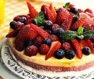 Vacherin helado con frutas