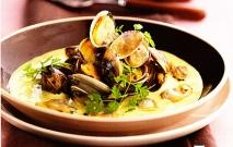 Receta de Velouté de almejas al curry