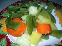Verduras al vapor en Mycook