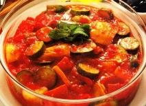 Verduras cocidas con pimientos