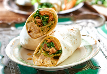 Receta de Wrap de pollo al curry