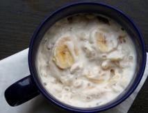 Yogur con plátano