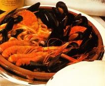 Zarzuela de pescado y marisco al Brandy de Jerez