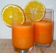 Receta de Zumo de naranja y zanahoria